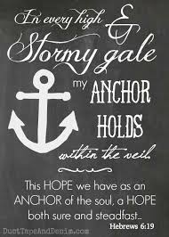 Chalkboard Love And Hope Anchors - my anchor holds verses inspiration and bible