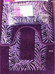 Bathroom Rugs Set 3 Piece by Amazon Com 19 Piece Bath Accessory Set Purple Zebra Bathroom Rugs
