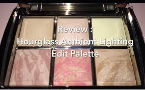 hourglass ambient lighting edit palette review hourglass ambient lighting edit palette holiday 2015 youtube