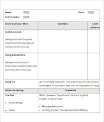 sle school report templates exles 14 free word pdf