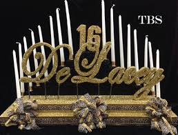 sweet 16 candelabra sweet 16 bat mitzvah custom cheetah candelabra