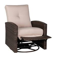 Swivel Wicker Patio Chairs by Outsunny Deluxe Swivel Rattan Wicker Sofa Chair Reclining Lounge