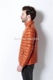 Plus Size Down Coats Men Portable Ultra Light Down Jacket Stand Collar Coat Regular