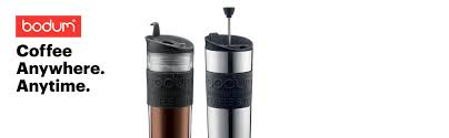 bodum insulated stainless steel travel french press coffee and tea