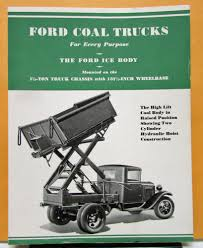 Old Ford Truck Bodies For Sale - ford truck model aa 1 1 2 ton coal and ice body sales brochure