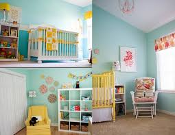 bedroom ba nursery yellow ba room decor kids light blue wall