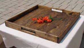 Wooden Serving Tray Simple