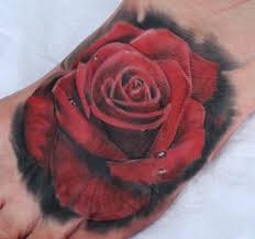 realistic single rose tattoo on side in 2017 real photo pictures