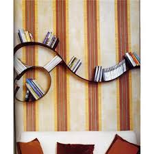 accessories contemporary wall mounted dark brown wooden wall book
