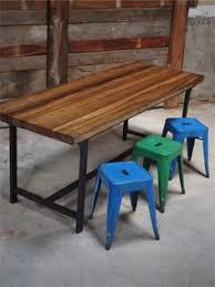 bureau militaire la célèbre table 55 tolix patine graphite 1950s industrial and tables