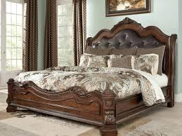 King Size Sleigh Bed Upholstered Sleigh Bed King Elkar Club