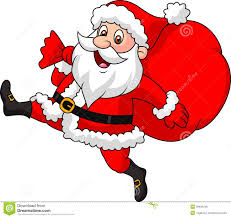 santa clause pictures santa claus running with the bag of the presents royalty