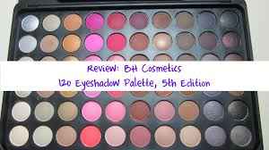 review bh cosmetics 120 eyeshadow palette 5th edition youtube