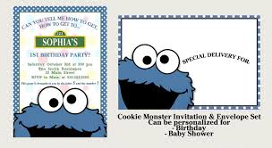 cookie monster invitation set matching and 37 similar items