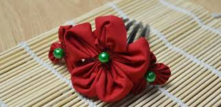 flowers for hair diy a fabric flower hair comb with green for christmas