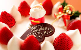 merry christmas strawberry dessert wallpapers hd wallpapers