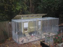 cyclone fencing dog run backyard chickens