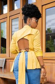 how to cut out the back of a cabinet go getter cut out back blazer mustard