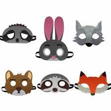 halloween craft masks cow monkey girls adventurer list farm animal mask templates