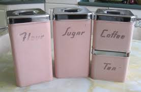 pink canisters kitchen pink kitchen canister set ca 1950 s lovely pink kitchen