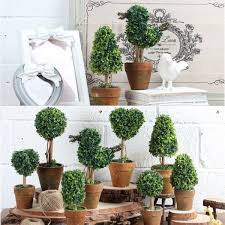 artificial potted plant plastic garden grass ball topiary tree pot 1 x artificial plant pot