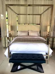 Gold Canopy Bed Stainless Steel Canopy Bed Brushed Stainless Steel Canopy Bed