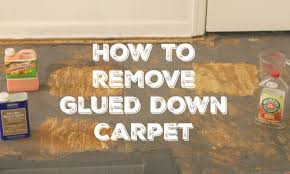 how to remove glued carpet lovely etc