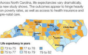 Winston Salem Zip Code Map study where you grow up in north carolina affects your life span
