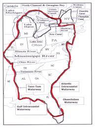 Intracoastal Waterway Map Daydream U0027s Great Loop January 2017