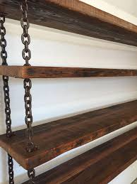 this hanging suspended chain bookshelves are made from all