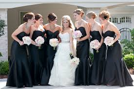 lazaro bridesmaid dresses this was me at my wedding i loved our theme of black white and