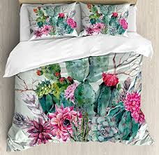 King Size Duvets Covers Amazon Com Cactus Decor King Size Duvet Cover Set By Ambesonne