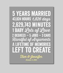 fifth anniversary gift ideas for him best 25 5 year anniversary ideas on 3rd wedding