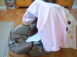 Pink Car Seat Canopy by Naturally Creative Mama Nesting Series Diy Car Seat Canopy Tutorial