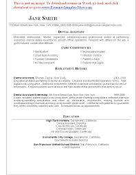 Payroll Resume Template Resume Examples Dental Resume Templates Assistant Examples
