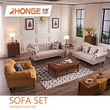 Chesterfield Sofa Set Living Room American Style Design Classical Luxury Fabric