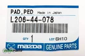 2007 2013 mazda cx 7 cx 9 rubber parking brake lever pedal pad oem