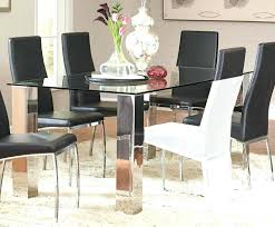 glass and metal dining table dining tables small glass and metal