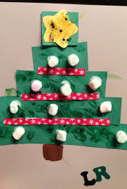 marshmallow christmas tree craft for toddlers construction paper