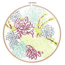 succulent kits studio mme succulent garden embroidery kit kreatelier