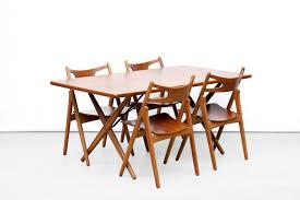 X Leg Dining Table Model At 303 Teak U0026 Oak Cross Leg Dining Table By Hans Wegner For
