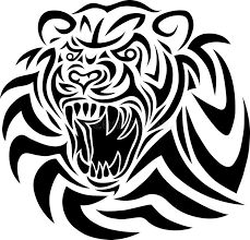 tiger tribal stock vector illustration of sketch 39540533