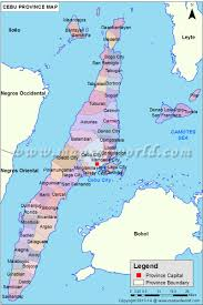 map of province cebu map map of cebu province philippines