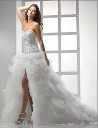 short wedding dress with long train styles of wedding dresses
