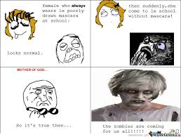 Mascara Meme - then suddenly she come to le school without mascara by serkan