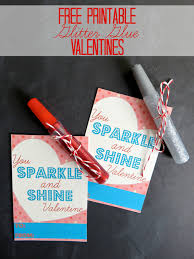 free printable valentines you sparkle and shine valentine