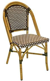 Wicker Bistro Chairs Rattan Outdoor Bistro Chair W Bamboo Painted Frame