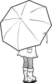 umbrella coloring pages kids printable drawing idees