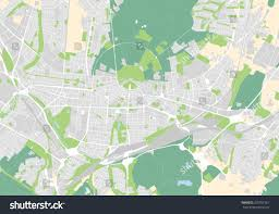 Karlsruhe Germany Map by Vector Map City Karlsruhe Germany Stock Vector 350707361