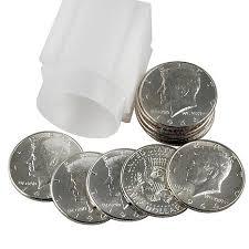1964 john f kennedy jfk banker u0027s roll of 10 half dollars